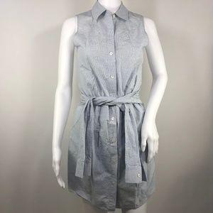 Theory Appel Button Front Sleeveless Shirtdress 2